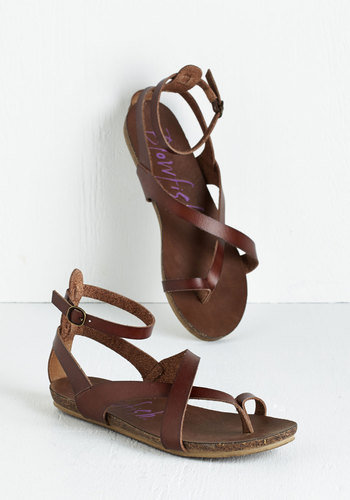 Soak Up Some Sun Sandal in Brown