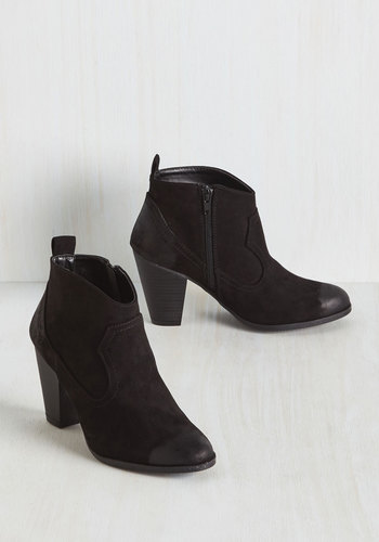 North, South, East, Or Western Bootie in Black