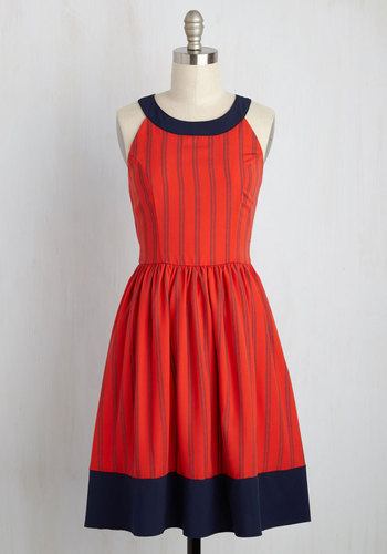 Day In and Date Out Dress in Cherry Soda