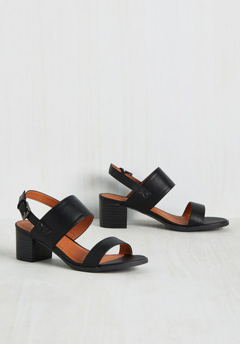 A Necessary Sequel Sandal in Black