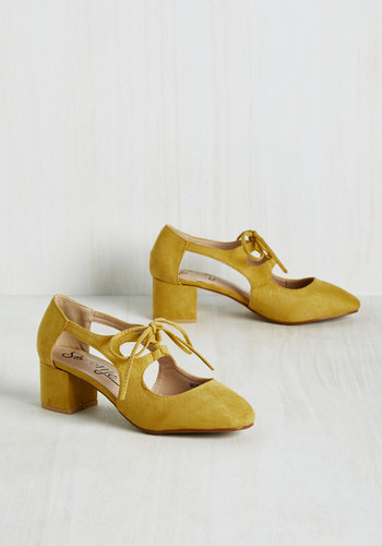 New Orleans Lease on Life Heel in Curry $39.99 AT vintagedancer.com