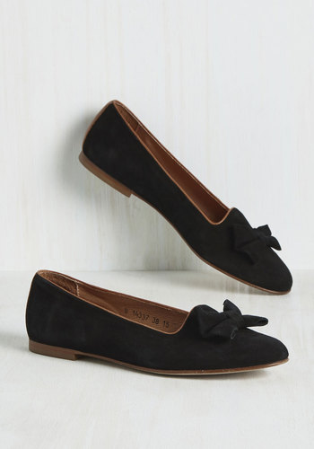 Retro & Vintage Style Shoes The Grand Toe-tal Leather Flat $98.99 AT vintagedancer.com