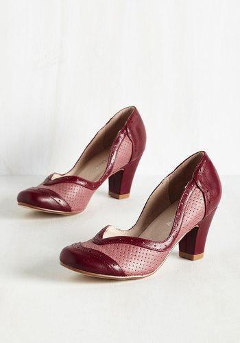 Twentieth Century Foxtrot Heel in Sanguine $74.99 AT vintagedancer.com