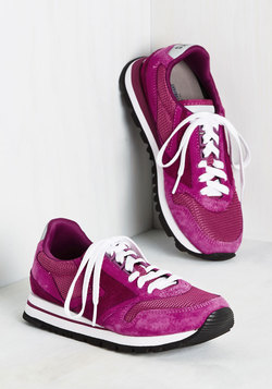 Glam on the Run Sneaker in Magenta