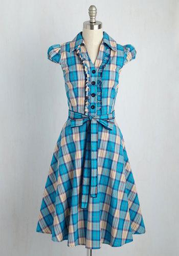 About the Artist Dress in Blue Plaid $69.99 AT vintagedancer.com