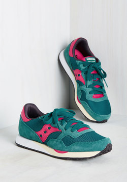 Look Who's Sporty Sneaker in Teal
