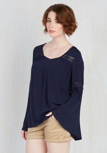 Bells and Giggles Top in Navy