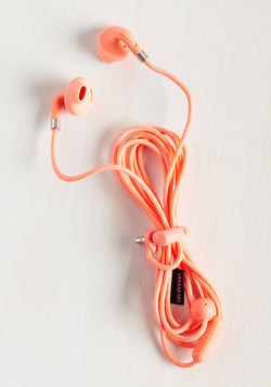 Hear Me Haute Earbuds in Coral