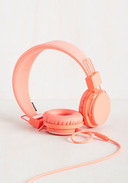 Thoroughly Modern Musician Headphones in Coral