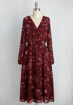 In Delight of Recent Events Floral Dress