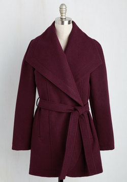 Boston Bake-Off Coat in Cranberry