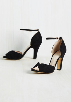 Fine Dining Heel in Noir