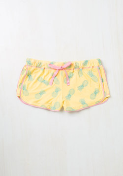 Sprout of Bed, Sleepyhead! Sleep Shorts in Pineapples