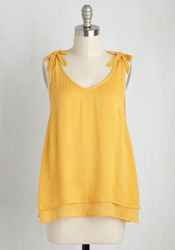 One Shadyside Character Tank Top in Daffodil