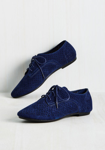 Picture Perforate Flat in Blueberry $34.99 AT vintagedancer.com