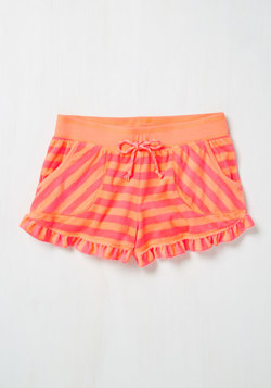 You Frilly, Really Like Me! Sleep Shorts in Coral