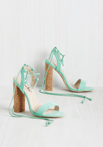 Desirable Attire Heel in Mint