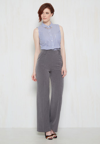Complementing Confidence Pants in Grey