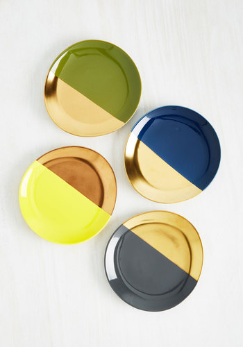 Gold Crush Plate Set