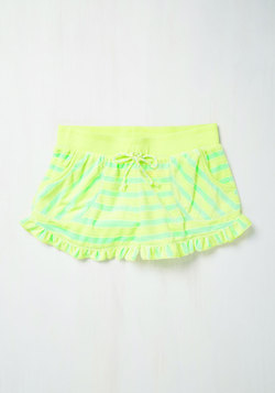 You Frilly, Really Like Me! Sleep Shorts in Citrus