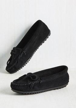 Fundamental Footwork Suede Flat in Black