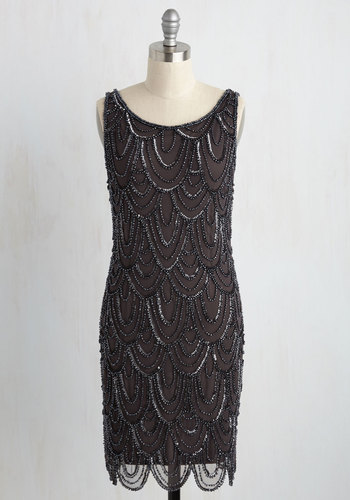 VintageEveningDresses Roaring Reception Dress in Smoke $179.99 AT vintagedancer.com