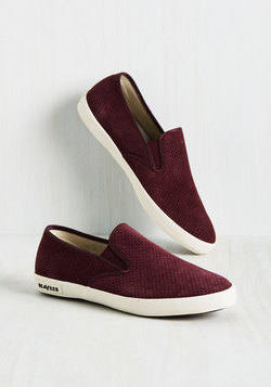 Long Beach Bash Slip-on Sneaker in Burgundy