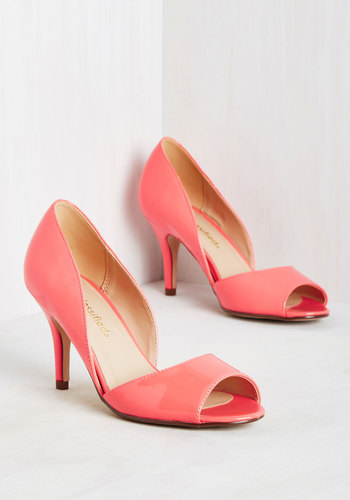 Spring to Mind Heel in Coral Gloss