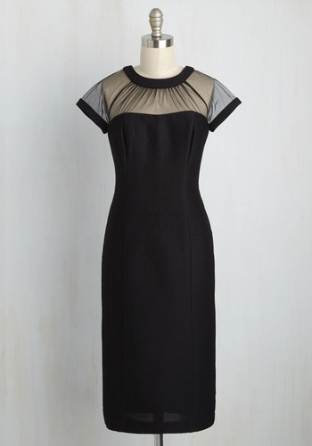 Flair for Fabulous Dress in Textured Noir $149.99 AT vintagedancer.com