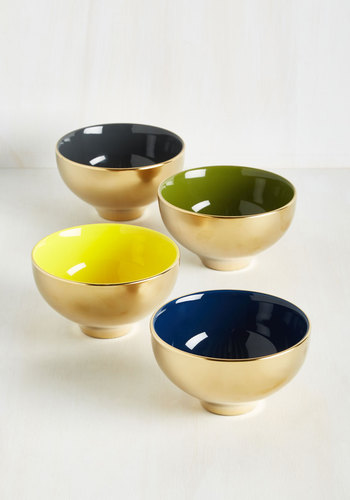 Gold Crush Bowl Set