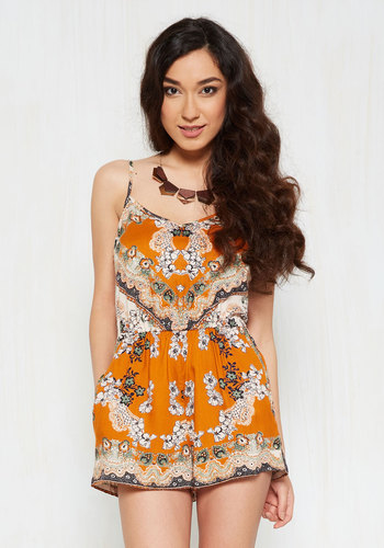 Fun, Two, Three, Four Romper in Floral