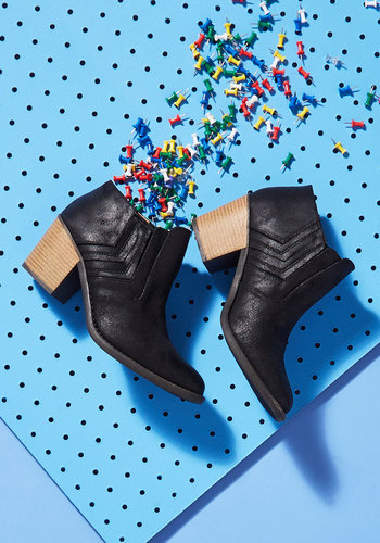 Let Your Sleek Flag Fly Bootie in Black