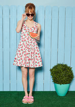 Flare Maiden Dress in Vintage Watermelons