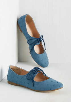 Blossoming Boucle Flat in Blue
