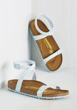 The Gist of Minimalist Sandal in Powder Blue - Narrow