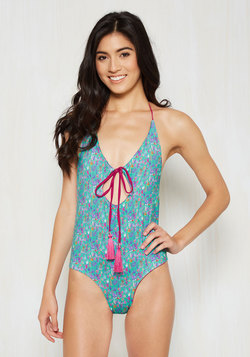 Pull a Splash One Reversible One-Piece Swimsuit in Fronds