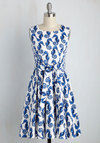 Girl Meets Twirl Dress in Seahorses