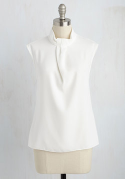Sleek Supervisor Top in White