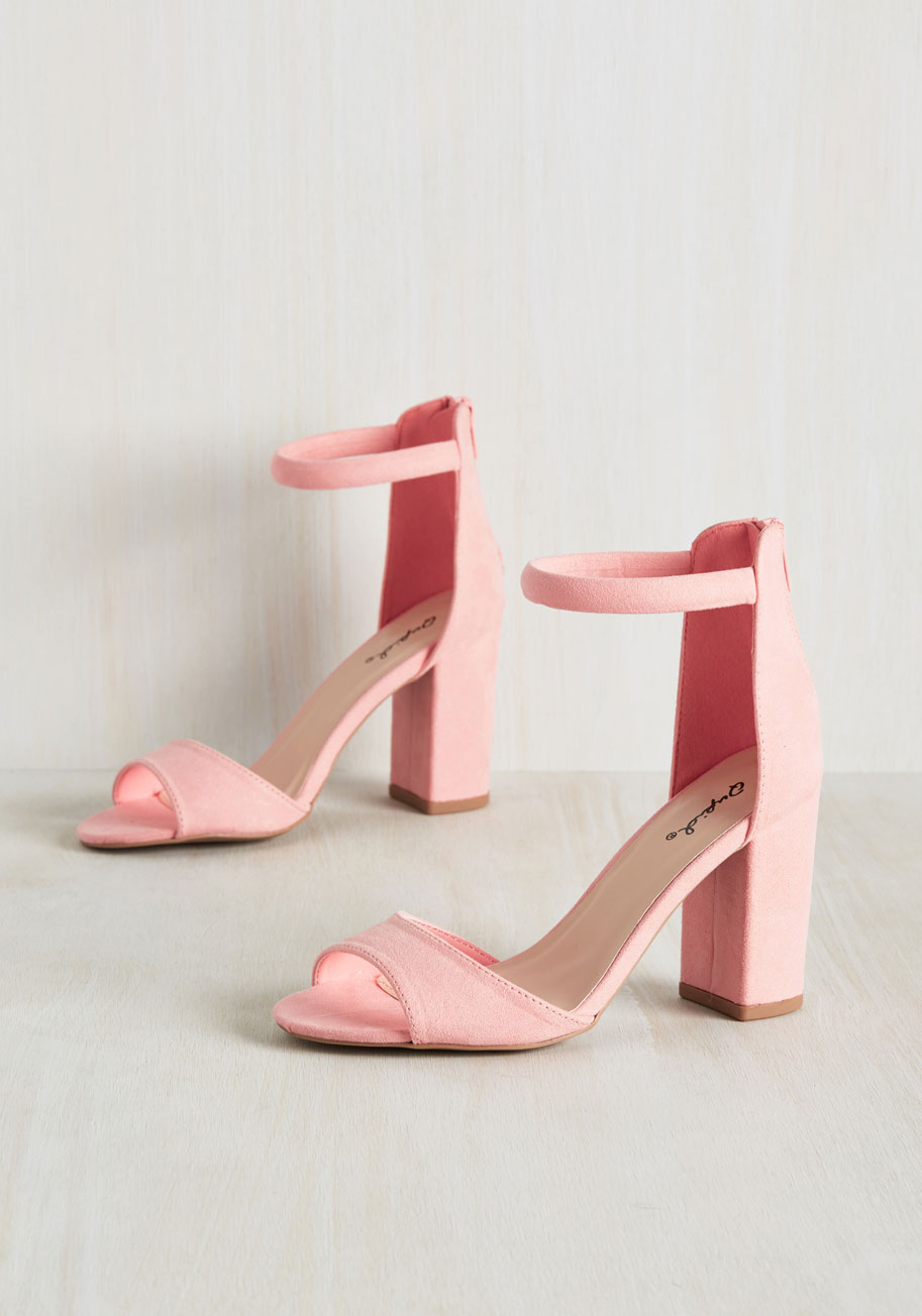 Hot Pink Shoes Low Heel