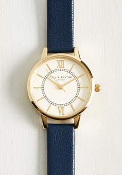 Head of the Classic Watch in Navy & Gold