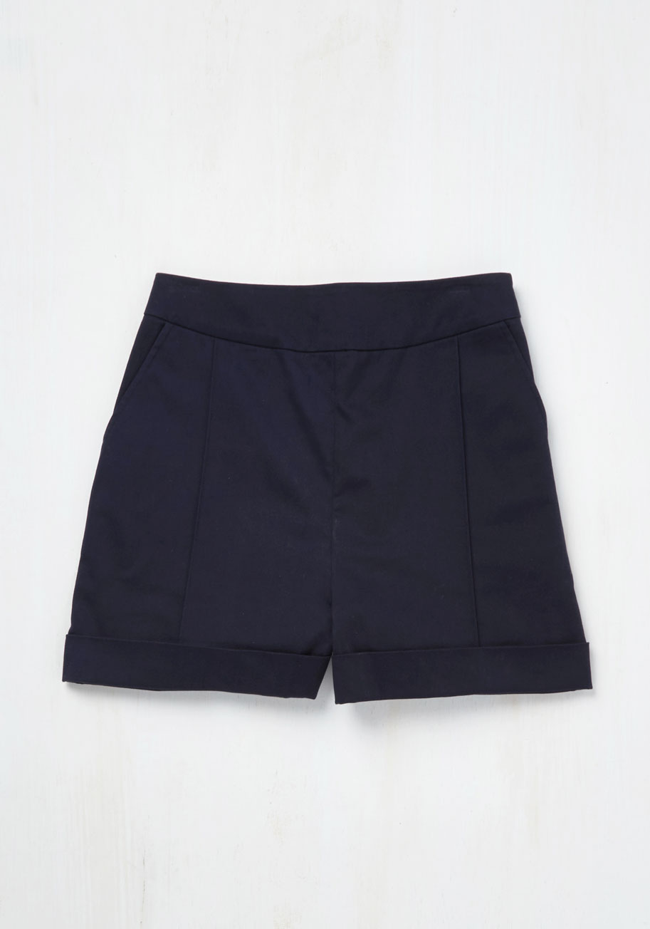 Dapper on Deck Shorts in Navy $39.99 AT vintagedancer.com