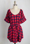 Medium Format Memory Tunic in Buffalo Plaid