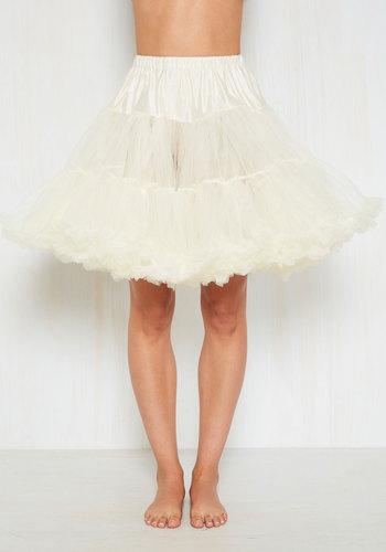 Vintage Inspired Lingerie Va Va Voluminous Petticoat in Ivory - Short $52.99 AT vintagedancer.com