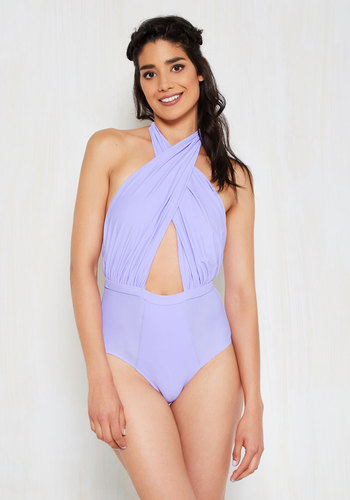 Rooftop Pool One-Piece Swimsuit in Lilac