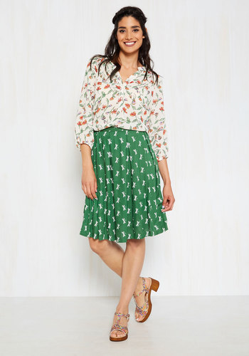 Finding Inner Pleats Midi Skirt