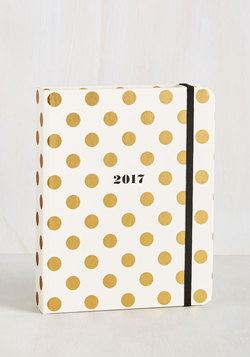 Cheer After Year 2017 Planner in Gold Dots