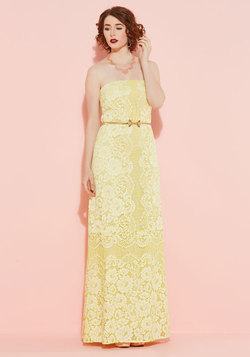 Enchanting Commencement Maxi Dress in Daffodil