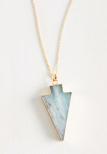 A Good Arrowhead on Your Shoulders Necklace in Sage