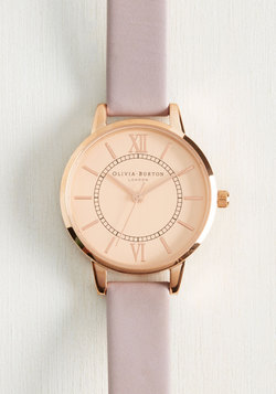 Head of the Classic Watch in Lilac & Rose Gold