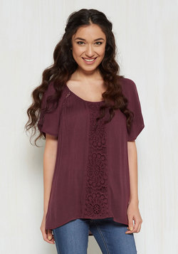 Park! Who Goes There? Top in Burgundy